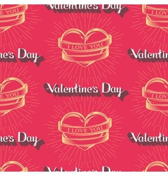 I love you happy valentines day seamless pattern vector