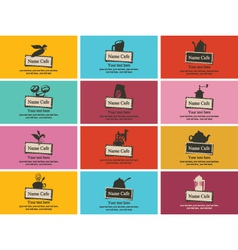 Tea coffee business card vector