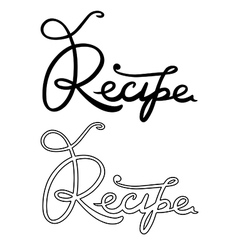 Recipe word vector