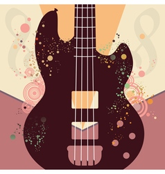 Retro guitar poster3 vector