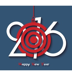 Creative design happy new year 2016 greeting card vector
