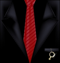 Black suit and jewel vector