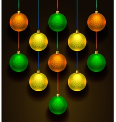 Colorful christmas balls Set of realistic vector image