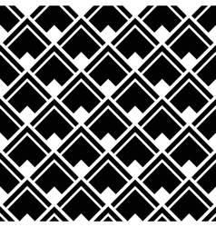 Geometric white black strict pattern vector