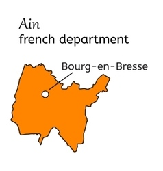 Ain french department map vector