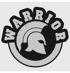 Spartan warrior emblem vector