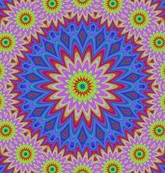Abstract floral fractal mandala design background vector image vector image