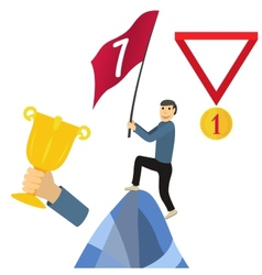 Business achieving goal success concept vector image vector image