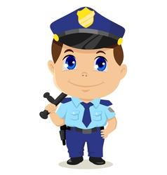 Cartoon policeman vector