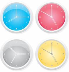 clocks design elements vector image vector image