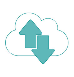 cloud data vector image