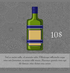 Czech liquor alcoholic beverage card vector