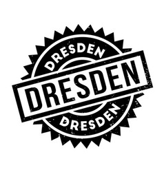 Dresden rubber stamp vector