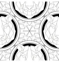 Geometric pattern tiger head trendy line design vector image