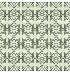 Geometric Seamless pattern with stylized flower vector image