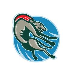 Greyhound racing and jumping set inside circle vector image vector image