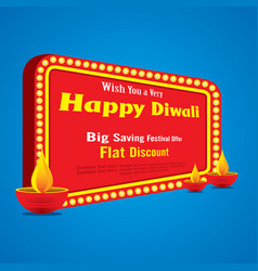 happy diwali greeting design vector image vector image