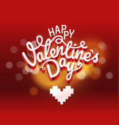 Happy valentines day wishes greeting card layout vector