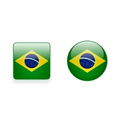 Icons with brazilian flag vector