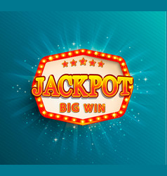 jackpot lighting banner big win vector image