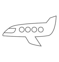 Jet plane icon vector