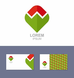 Logo Icon design element with business card vector image vector image