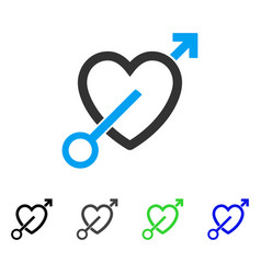 Love arrow flat icon vector