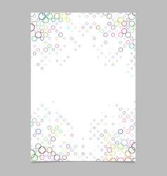 Multicolored circle pattern brochure template - vector