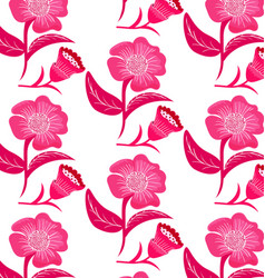 patterns pink flowers vector image vector image