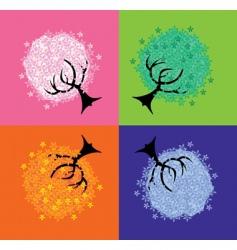 seasons trees vector image vector image