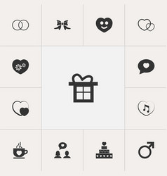 Set of 13 editable amour icons includes symbols vector