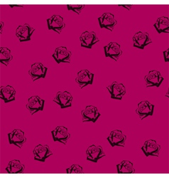 Small roses seamless pattern vector image vector image