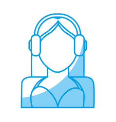 Woman avatar ico vector