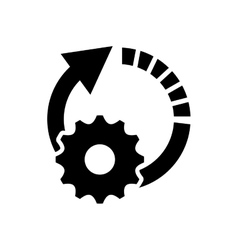 Circle arrow and gear icon vector