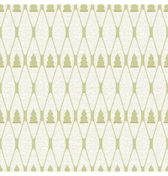Christmas and holidays seamless pattern with tree vector