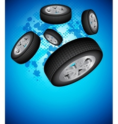 Wheels background vector