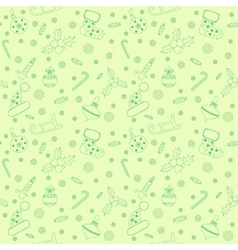 Christmas seamless pattern with balls snowflakes vector