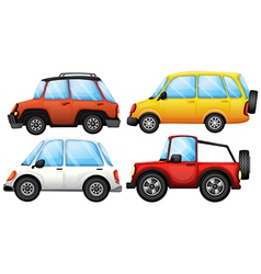Four cars with different styles vector