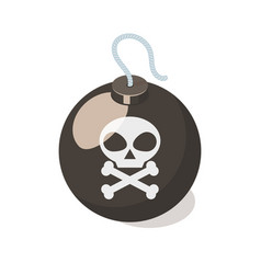 bomb icon isolated on white background vector image