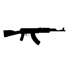 assault rifle black color icon vector image