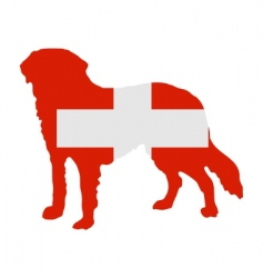 Flag of switzerland with saint bernard vector