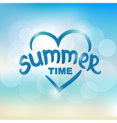 Summer time - typographic design vector