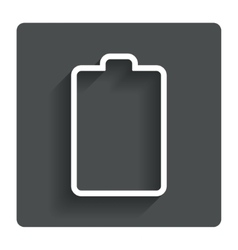 Battery empty sign icon low electricity symbol vector