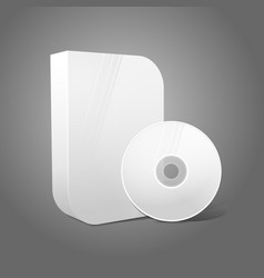White realistic isolated DVD CD Blue-Ray smooth vector image