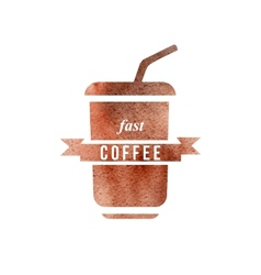 fast coffee logo vector image