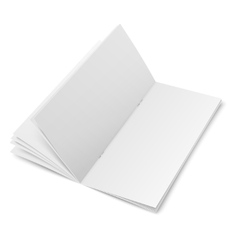 Multipage brochure template on white background vector image