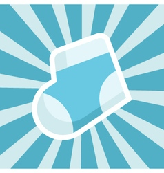 Baby shower sock icon vector
