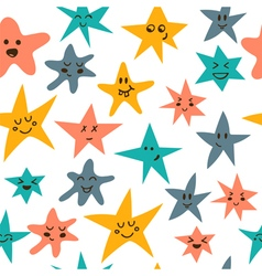 Seamless pattern with cute little stars vector