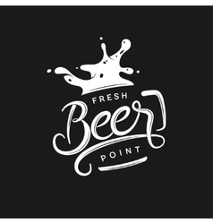 Beer point typography vintage lettering vector