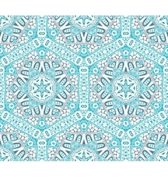 Abstract winter snowflakes seamless pattern vector